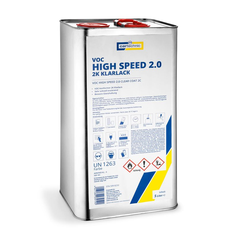 VOC High Speed 2.0 2C clear-coat 5 Litre